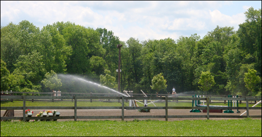 River Run Farm Hunter arena and irrigation system